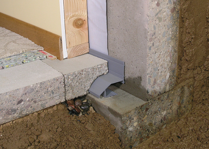 Interior Waterproofing Systems Are Designed To Fit Below The Slab Catching  Water From The Wall And Under The Slab. When Placed Inside On The Footing  The ...